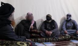 البغدادي خلال لقاء مع قادة من