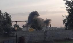 تصاعد الدخان نتيجة غارة جوية جنوب حلب