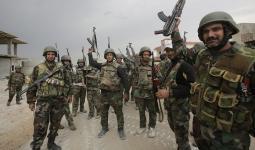 مجموعة عناصر من ميليشيات الأسد في سوريا
