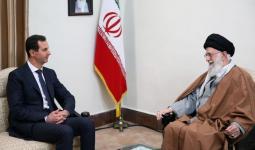 بشار الأسد خلال اجتماع مع خامنئي
