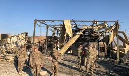 جنود أمريكيون في قاعدة عين أسد بعد القصف الإيراني - رويترز