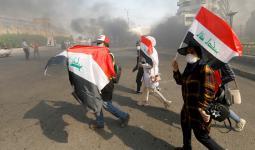 صورة أرشيفية من الاحتجاجات ضد الحكومة في العراق