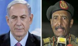 رئيس المجلس الانتقالي السوداني فريق أول عبد الفتاح البرهان ورئيس وزراء الاحتلال الإسرائيلي بنيامين نتنياهو