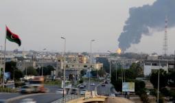 صورة أرشيفية لقصف طال مدينة طرابلس مؤخراً