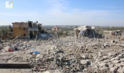 آثار الدمار في معرة مصرين شمال إدلب - آرام