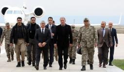خلوصي أكار برفقة قادة في الجيش التركي