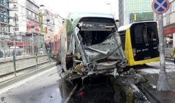 صورة الحدث في إسطنبول تصادم ترامفاي بحافلة