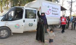 وُزعت 200 سلة غذائية على العائلات السورية بقضاء