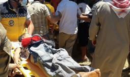 صورة لطفل مات غرقًا في ريف حلب الشمالي- الدفاع المدني.