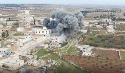 تصاعد الدخان شمالي سوريا.