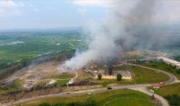 تصاعد الدخان في ملعب ألعاب في سكاريا.