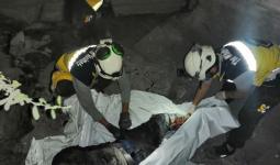 الدفاع المدني  ينتشل جثث الضحايا غرب الباب