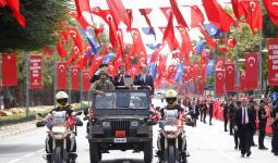 صورة أرشيفية من احتفالات يوم النصر في تركيا سابقااً