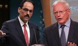 متحدث الرئاسة التركية، إبراهيم قالن، الجمعة، للمبعوث الأمريكي إلى سوريا جميس جيفري