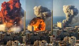 لحظة حدوث انفجار بيروت