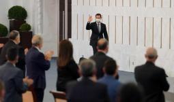 بشار الأسد في قصر الشعب