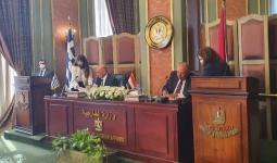 جانب من توقيع الاتفاقية بين مصر واليونان في القاهرة