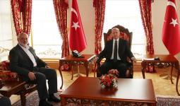 هنية وأردوغان خلال لقاء سابق