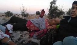 أحد المصابين خلال عملية تهريب في حلب