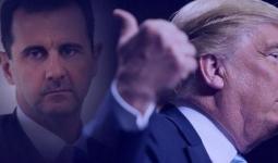 ترامب يميناً وبشار الأسد يساراً
