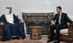 لقاء سابق بين بشار الأسد وولي عهد أبو ظبي