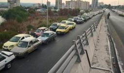 طوابير السيارات في اللاذقية