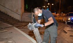 بقايا صاروخ فلسطيني سقط داخل مستوطنة للاحتلال قرب قطاع غزة