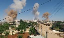 تصاعد دخان القصف في الشمال السوري - أرشيف