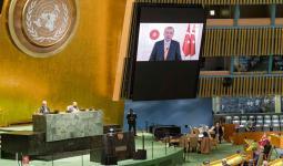 أردوغان خلال كلمة الجمعية العامة للأمم المتحدة