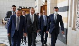 جانب من لقاء بشار الأسد بوفد روسي برأسة سيرغي لافروف