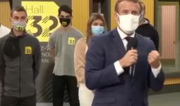 الرئيس الفرنسي يرشد طلاب شأن كورونا