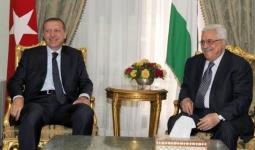 لقاء أردوغان مع نظيره الفلسطيني عباس مؤخراً