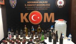 كحول مزيفة ضبطها الأمن التركي خلال حملة تفتيش