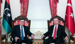 لقاء الرئيس التركي مع رئيس حكومة الوفاق الليبية