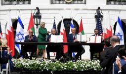 لحظان توقيع اتفاق التطبيع في البيت الأبيض