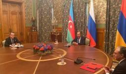وزراء الخارجية الأرمينية والروسية والأذربيجانية