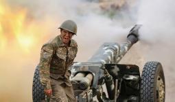 جانب من المعارك في قره باغ في أذربيجان