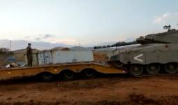دبابة إسرائيلية قبل انقلابها في الأغوار الشمالي في فلسطين المحلتة