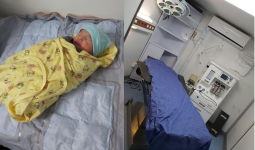 ولادة قيصيرية في مخيم الركبان