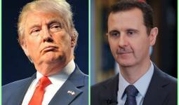 بشار الأسد ودونالد ترامب