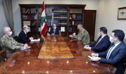 اجتماع لمناقشة ترسيم الحدود بحضور الرئيس اللبناني