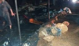 حريق بمخيمات الشمال السوري