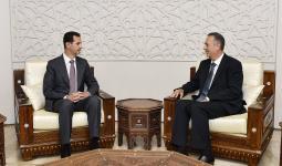 لقاء بين إبراهيم وبشار الأسد عقب تعيينه محافظاً لدمشق