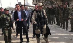 بشار الأسد وسط ميليشياته