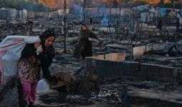 خسائر فادحة في مخيم اللاجئين في لبنان