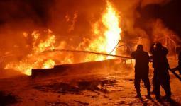حريق في مصفاة حمص - وكالة سانا