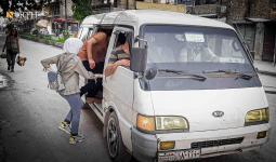 إحدى وسائل النقل المشهورة في سوريا