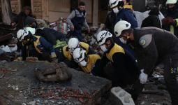انفجار مستودع أسلحة في إدلب- الدفاع المدني