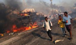 التفجير استهدف شركة  تركية تشيد الطرقات في الصومال