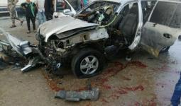 صورة للسيارة التي تم تفجريها